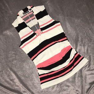 NY&Co Sleeveless, ruched blouse